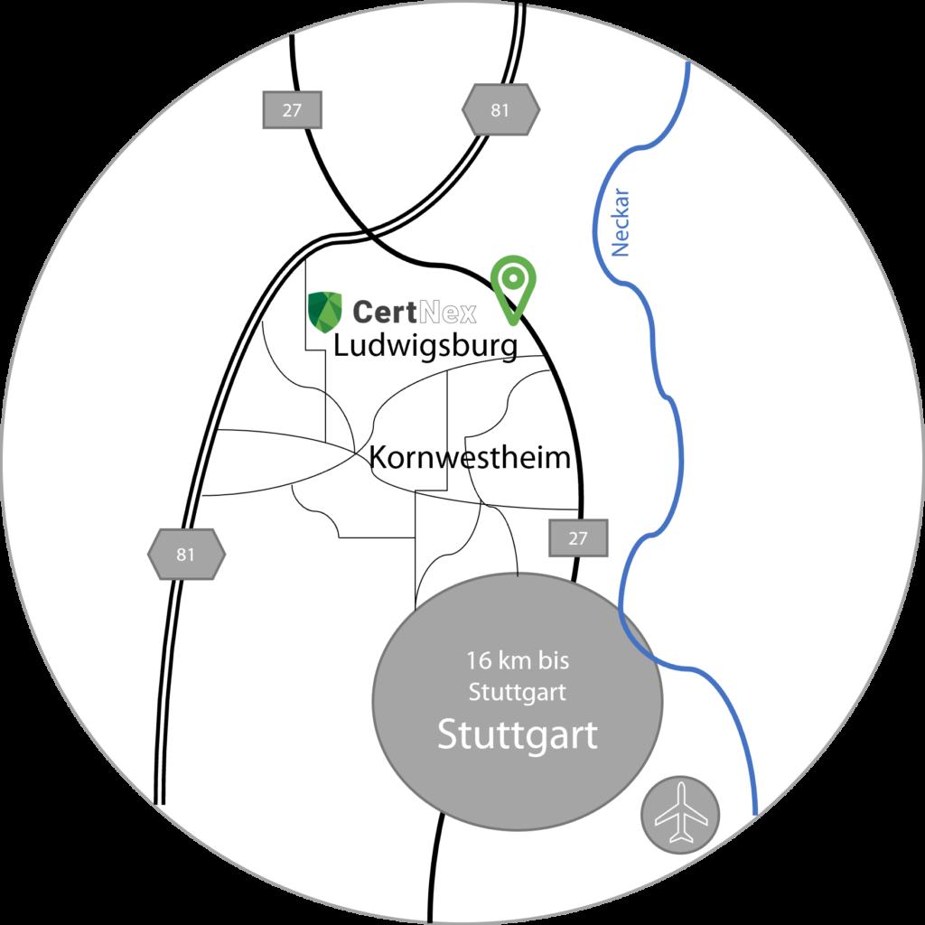 Anfahrt CertNex GmbH